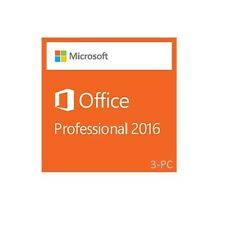Microsoft Office Professional 2016 - MAC OS | Full Retail Media | 3-User