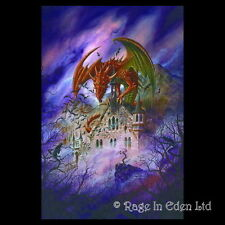 *SNAGOV AQUARIUS* Fantasy Dragon Art 3D Postcard By Alchemy Gothic (15x10cm)