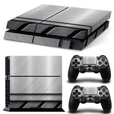 Sony PS4 Playstation 4 Skin Design Aufkleber Schutzfolie Set - Stainless Steel