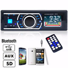 Bluetooth Car In-Dash Stereo USB FM Radio Audio Receiver MP3 MusicPlayer Adapter
