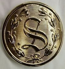 "5 1/2""  SANTA BELT BUCKLE GOLD PLATED  FITS 4"" BELT"