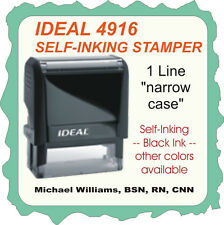 Military /Medical Title & Name, 1 Line, Trodat Printy 4916 Self Ink Rubber Stamp