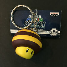 BANPRESTO Super Mario Galaxy Power Bee Mushroom Vintage Keychain RARE