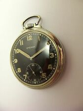 Eterna Militär Taschenuhr Wehrmacht Uhr WW2 military pocket watch ~1941 serviced