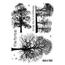 Crafty Individuals WINTER TREES Unmounted Red Rubber Stamps