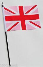 Pink Union Jack Small Hand Waving Flag
