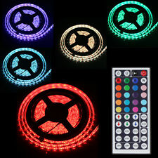 300 Count RGB Waterproof  LED Light Strip 55W 5 Meters with 44Key Remote