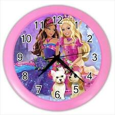 "Princess Barbie Pink Frame10"" Round Home Wall Clock New"