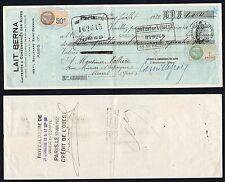 Assegno/Chèque francs 1.464 Lait Berna - Paris 1933