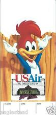 Ticket Jacket - US Air - Woody Woodpecker - Universal - White - c1990 (J1829)