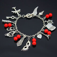 Fifty '50' Shades of Grey Trilogy Inspired Charm Bracelet Gift Vintage Style