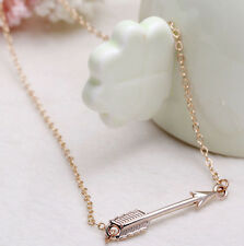 For Women Valentine's Day Gift Gold Plated Chain Arrow Head Pendant Necklace