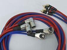 4x2,0 Meter XLR auf Profi Cinch Kabel Cinchkabel für Revox PR99 Studer C270 A80