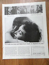 1962 New York Life Insurance Ad Made Me Stop Think How Much we Depend on You