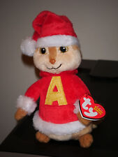 Ty Beanie Baby ~ ALVIN and the Chipmunks with Holiday Hat ~ MWMT'S ~ NEW