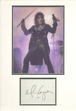 ALICE COOPER SIGNED AUTOGRAPH