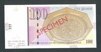 MACEDONIA   100 Denari 1996 UNC  P16s   SPECIMEN   with all zeroes ser. No