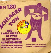 TANZ-ORCH. Donausagen / Traumideale;  20cm - Schlager-Ton-Schellackplatte M08