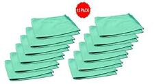 12pk Real Clean 16x16 Microfiber Green Window Glass Towels For Home Auto No Lint