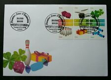 Luxembourg Gifts 2008 Bowling Flower Drum Candy Dice (stamp FDC)