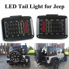 2x Black LED Tail Lights LED Lamps Brake Turn Signal for 07~16 Jeep Wrangler JK