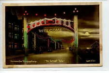 (Gc487-374) Real Photo of MORECAMBE Welcome 1934 Used G-VG, Matthews #9968