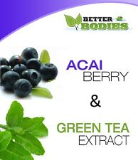 Better Bodies 100 Acai Berry & 100 Té Verde Dieta Cápsulas Pastillas Colon Cleanse
