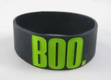 "New Glow In The Dark ""Boo."" Silicone Bracelet Great for Halloween #B1321"