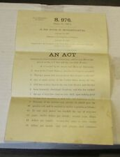 1907 Mexican and Civil War Pension Act S. 976 Official 59th Congress Report Text