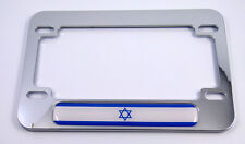 Israel Israeli flag Motorcycle Bike plasticABS Chrome Plated License Plate Frame