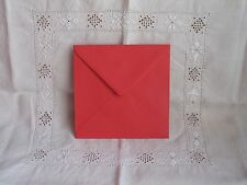 Red Square (160mm x 160mm) 100gsm envelopes for greeting cards x25
