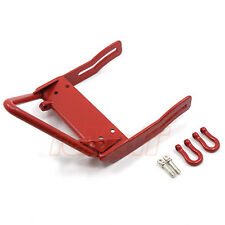 Xtra Speed ST Steel Bumper Winch Mount Shackles Axial SCX10 Red #XS-SCX22131RD