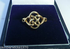 9ct Gold Celtic Ring, Size L