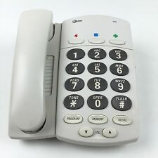 AT&T Telephone BIG BUTTON PLUS 905 Home Phone Desktop Wall Mount Hearing Aid
