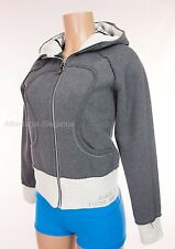 LULULEMON Special Edition Scuba Hoodie 4 S Gray Faux Fur Satin Sing Dance Jacket