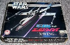 Vintage boxed Japanese Star Wars X-Wing model unmade plastic kit - Takara 1977
