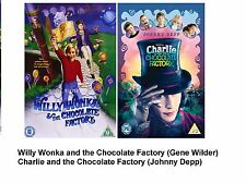 CHARLIE AND CHOCOLATE FACTORY WILLY WONKA DVD 2 MOVIES Johnny Depp Gene Wilder
