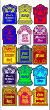 Vintage inspired Halloween 15 tombstone label stickers scrapbooking crafts