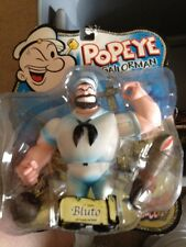 "Mezco Popeye Series 2 BLUTO with WHITE SAILOR 5"" Action Figure MOC, 2001 Rare"