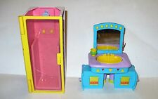 VINTAGE VIACOM MATTEL DORA THE EXPLORER DOLL HOUSE BATH SHOWER SINK/DRESSER TABL