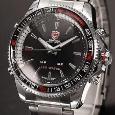 Shark Sportuhr Herrenuhr Herren Armbanduhr LED Digitaluhr Uhr Quarzuhr SH003 D