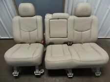 02-06 ESCALADE SECOND ROW SEATS LEATHER BENCH SEAT
