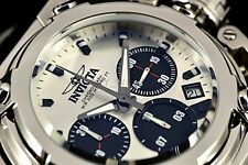 NEW Invicta 46mm X-Wing Swiss Parts Chronograph Silver Dial Silver Bracelet Watc