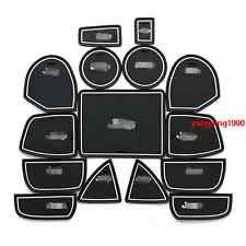 Interior Door Mat Cup Pads Holder trim 15pcs For Jeep Grand Cherokee 2011 - 2015