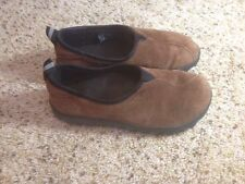 Womens TEVA Loafer Slip On Clog  BROWN Suede Size 4