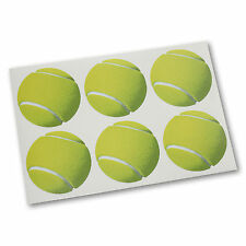 Tennis Ball Sticker Pack - 6 Stickers for Kids Bedroom, Schools & Sports Clubs
