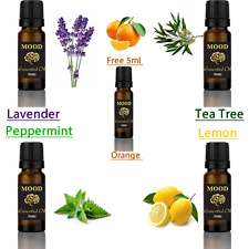 GRATIS 5ml Olio Essenziale ARANCIO Set 4 di 10ml Lavanda Menta Piperita Tea Tree Lemon