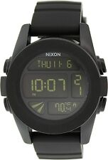 Nixon Men's Unit A197000 Black Polyurethane Quartz Watch