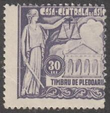 Romania Barrister's Insurance Revenue Pledoarii Barefoot #5 mint 30L 1931 cv $14