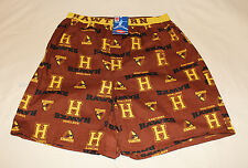 Hawthorn Hawks AFL Mens Brown Printed Cotton Boxer Sleep Shorts Size XL New